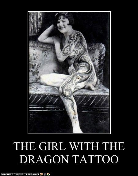 girl with the dragon tattoo,historic lols,tattoo,vintage