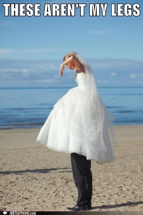 bride groom legs shoulders standing on shoulders wedding wedding dress - 5224425472
