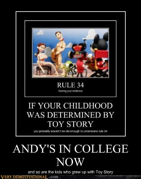 ANDY'S IN COLLEGE NOW and so are the kids who grew up with Toy Story