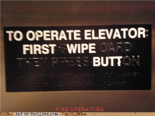 We Like to Keep Our Elevators Clean
