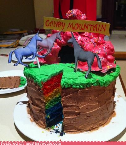 cake candy mountain charlie epicute rainbow unicorn - 5225262592