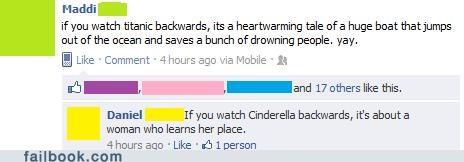 cinderella,movies,reverse,titanic