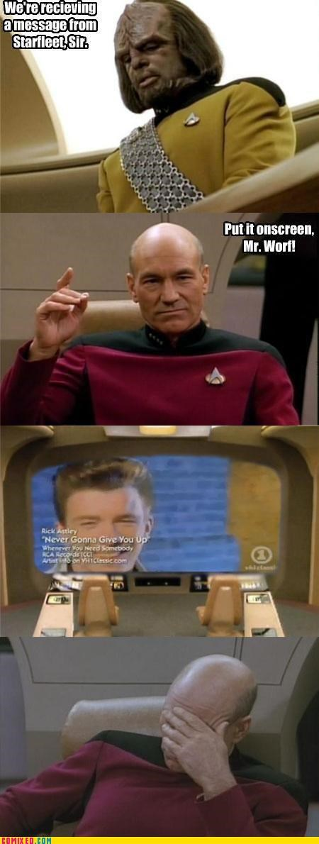 best of week facepalm message on the screen picard Star Trek Worf - 5225496320
