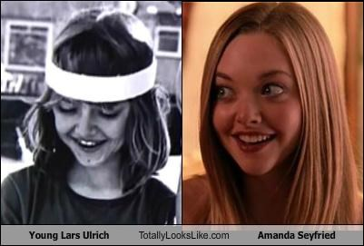 actress actresses Amanda Seyfried blonde child lars ulrich metallica musicians - 5225846528