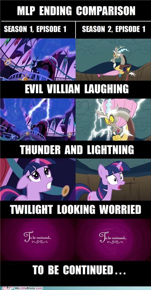 comics comparison endings season 1 season 2 to be continued twilight sparkle villain - 5226185472
