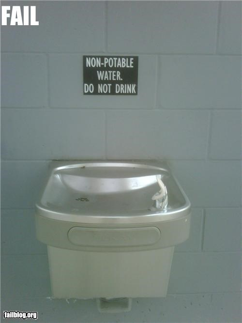failboat g rated irony safety first signs water fountain wtf - 5226190592
