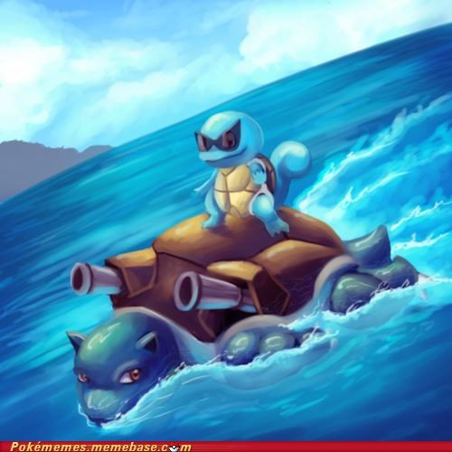 art,blastoise,Deal With It,squirtle,surfing