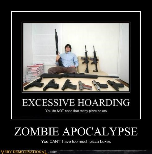 apocalypse guns hilarious pizza zombie - 5226222080