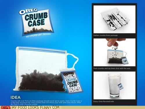 bag case crumbs flavor milk Oreos waste - 5226300416