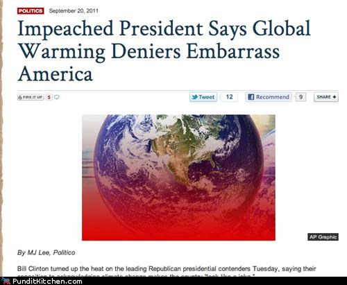 bill clinton fox news global warming political pictures