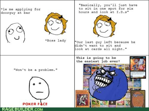 bar,cards,i lied,job,Pokémon,Rage Comics