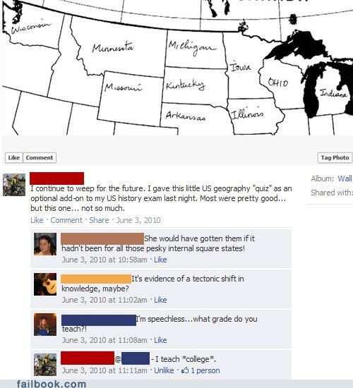 facepalm FAIL geography really school teacher - 5226577920