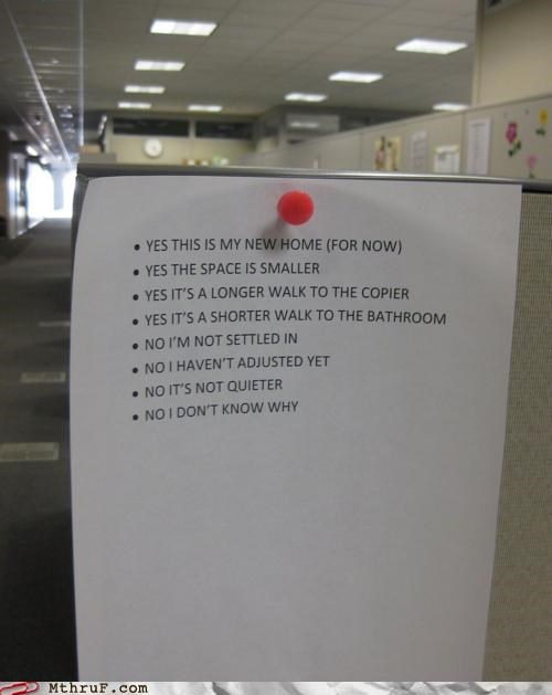 conversations cubicle moved Office sign small talk - 5226579456