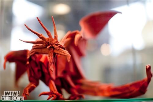 art dinosaur dragon origami paper papercraft sculpture