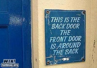business,clever,door,entrance,logic,sign
