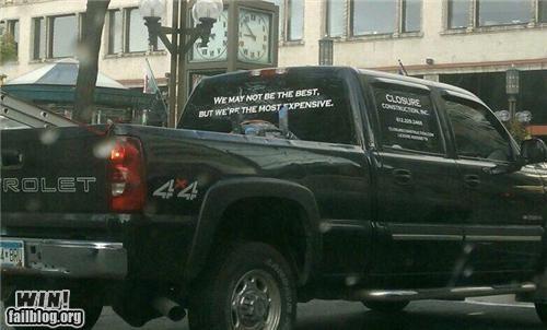 Ad advertisement car clever construction honesty truck - 5226611200