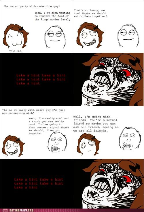 asking out comic hint rage comic rejection We Are Dating - 5226622976