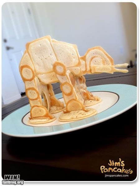at at breakfast food nerdgasm noms pancake star wars - 5226920448