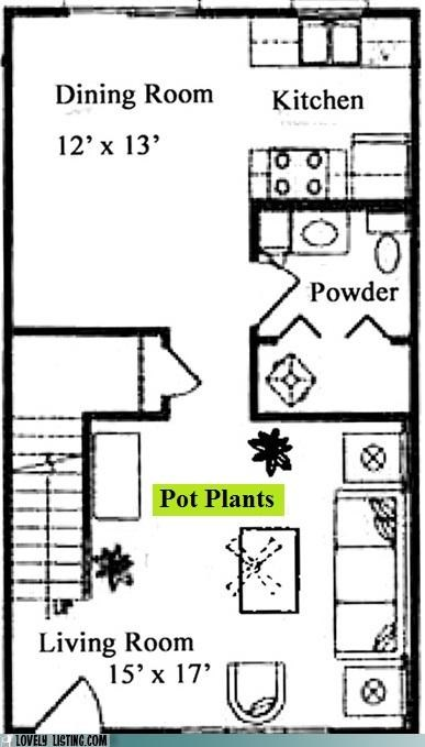 floorplan oops pot plants