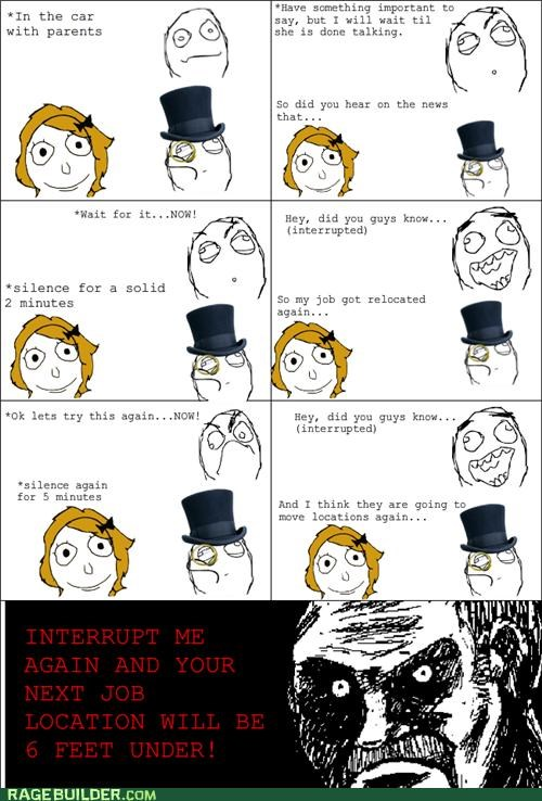 annoying,conversation,interruptions,Rage Comics