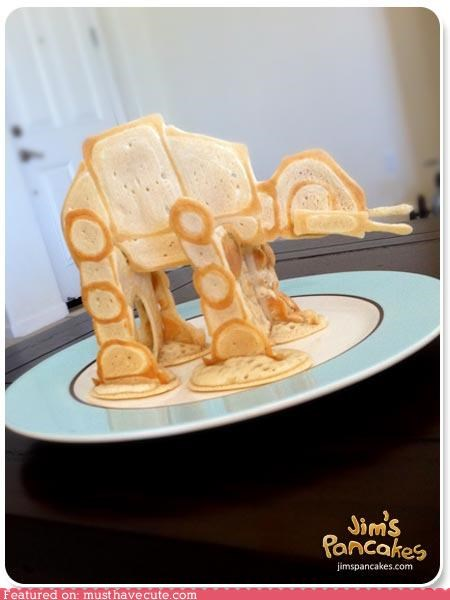 3d,at-at walker,epicute,pancakes,star wars
