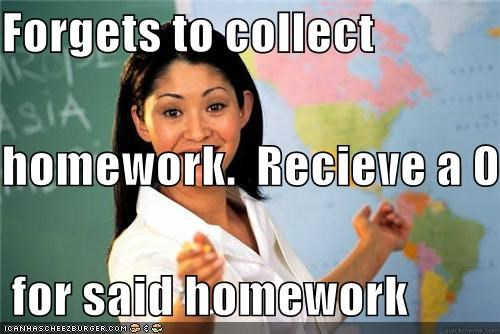 0 collect homework school Terrible Teacher what - 5227620352