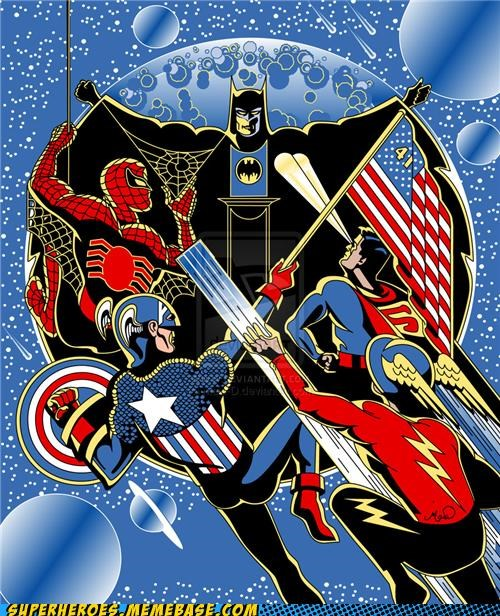 Awesome Art batman captain america flash Spider-Man superman - 5227644416