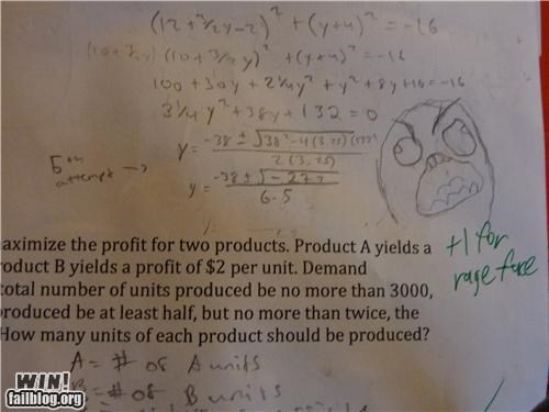 fffffuuuu math problem Rage Comics rage face school teacher - 5227727360