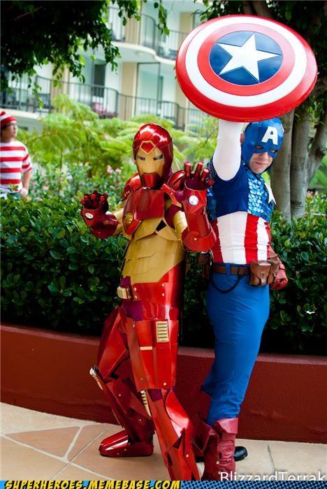 captain america costume iron man Super Costume - 5227750656