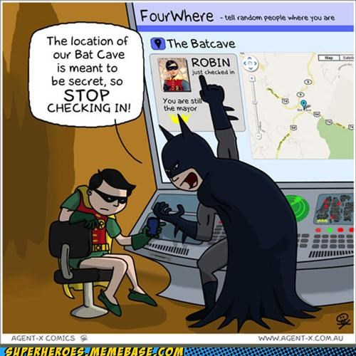 Awesome Art batman check in four square robin - 5227805440