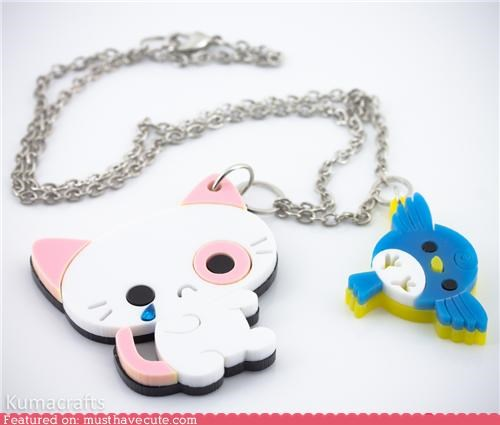 accessories bird chain Jewelry kitty necklace pendant