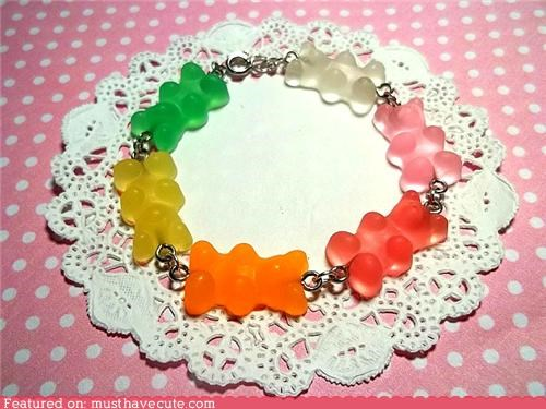 accessories,bracelet,candy,gummy bears,Jewelry,scented