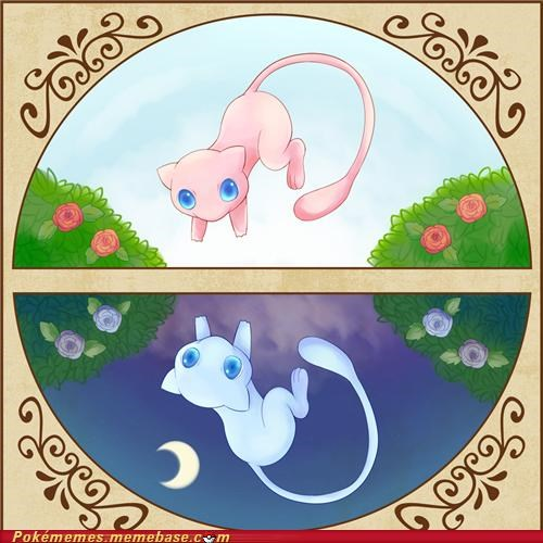 adorable art awesome day and night mew - 5228732928