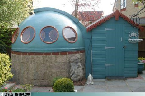 dome plastic shed yard