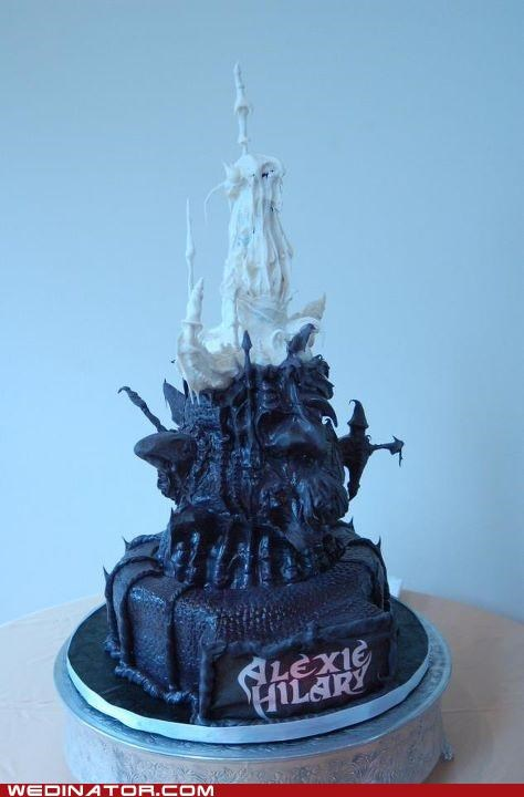 dark crystal,funny wedding photos,geek,wedding cake