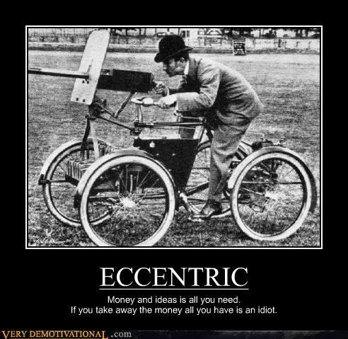 bike,eccentric,gun,idiot,idiots