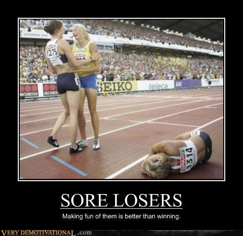 hilarious race sore loser wtf - 5229359104