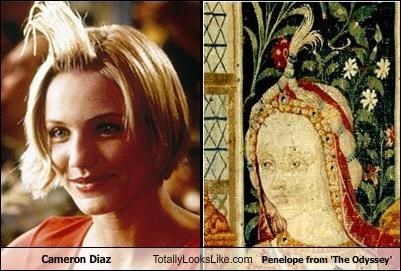 Penelope from the Odyssey totally looks like Cameron Diaz in There's Something About Mary