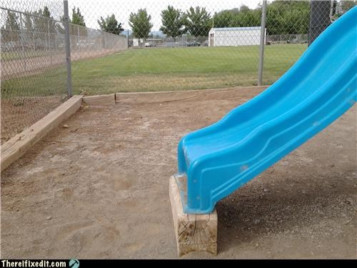 dangerous,playground,Professional At Work,slide