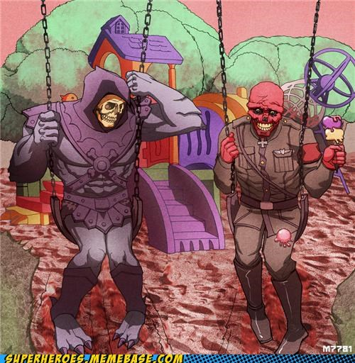Awesome Art Red Skull skeletor - 5229588736