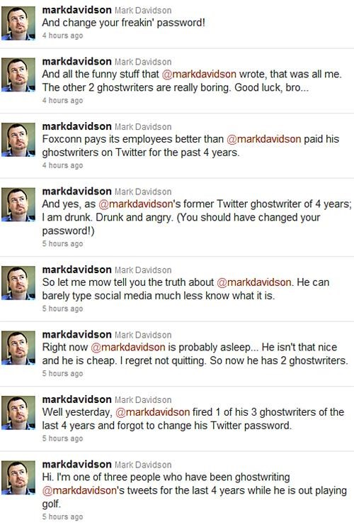 Disgruntled Ghostwriter,Mark Davidson,Whoopsie Daisy