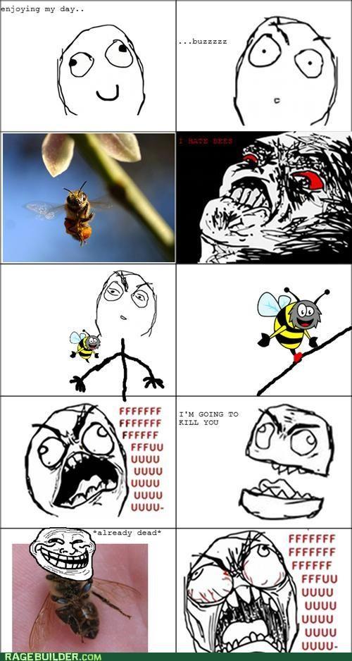 bee dead Rage Comics Sad - 5229677824
