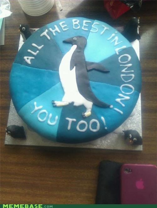 cake,fondant,penguin,socially awkward penguin