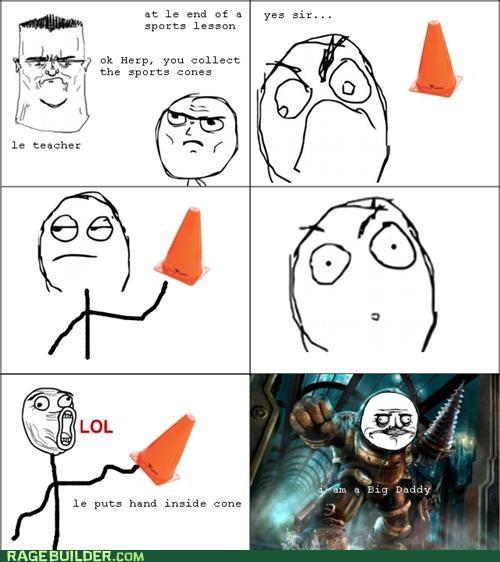 big daddy bioshock cone Rage Comics - 5229903616