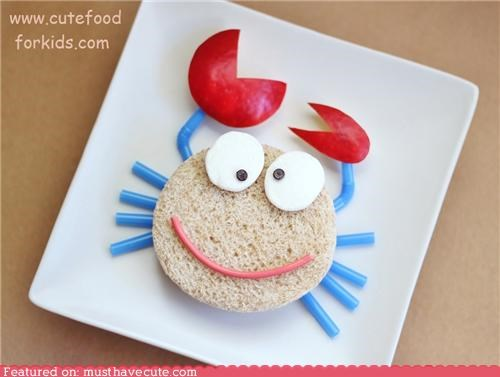 crab crazy face sandwich - 5230073088