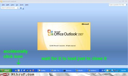 loading outlook waiting windows