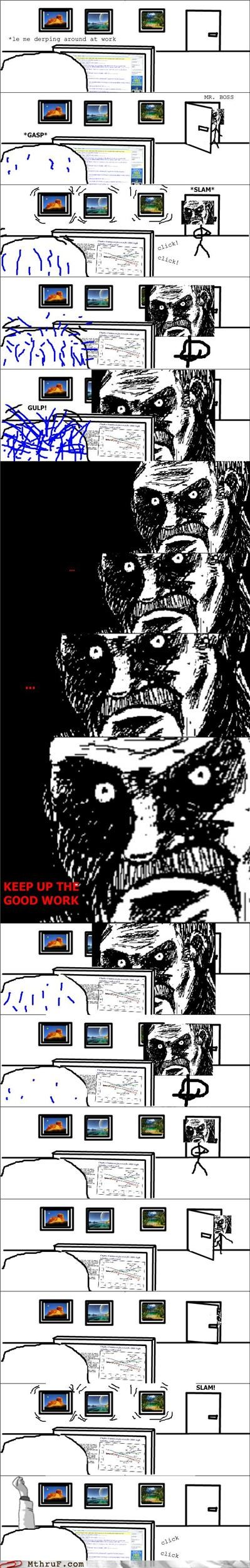 boss comic fear manager procrastination rage comic