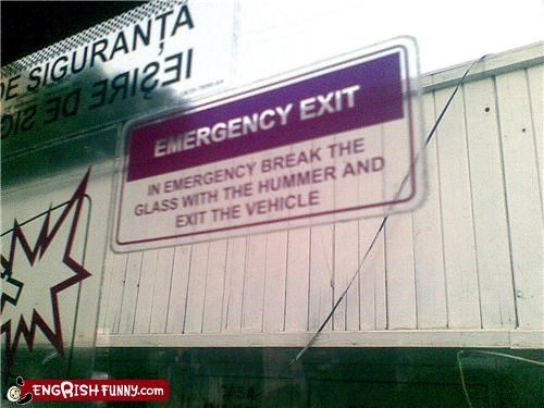car case driving emergency hammer Movie sign window