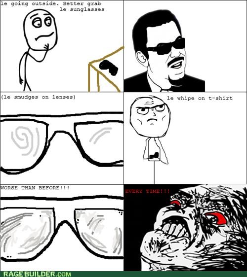 glasses Rage Comics smudge sunglasses - 5230439168