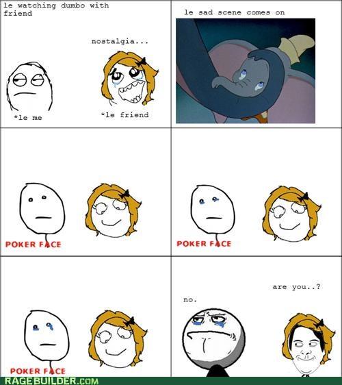 crying disney dumbo poker face Rage Comics Sad - 5230543616